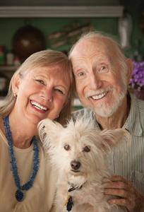 caregiver and doggie